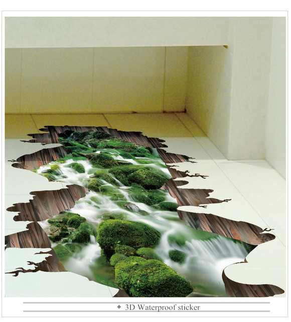 Tapeten Youman Heißer 3D Boden Aufkleber Vinyl Material Wohnzimmer ...