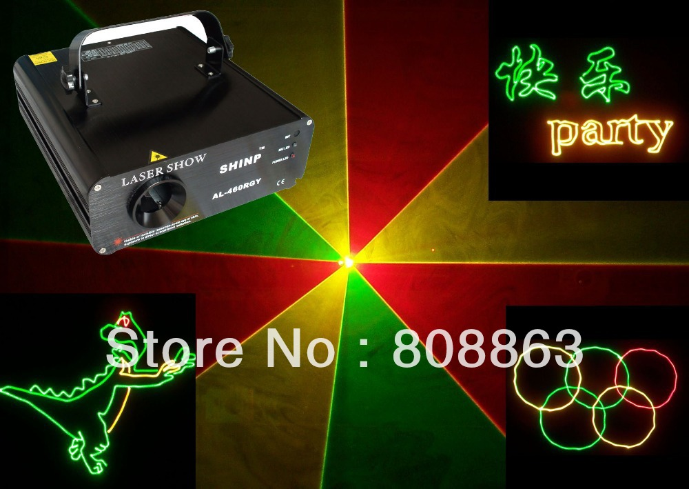 New P.R. R&G yellow Laser projector Party Bar Club dmx512 ILDA lighting light DJ Disco Dance KTV Animation Stage Lights show