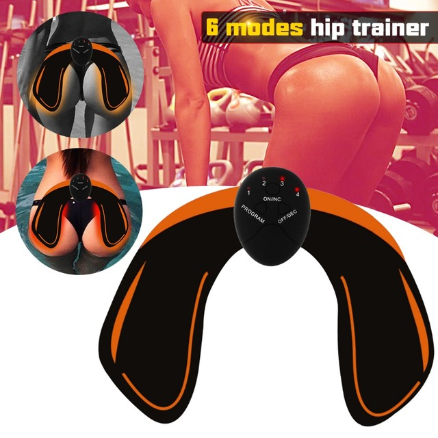 Abdominal Trainer EMS Muscle Stimulator Smart Fitness Hips abs muscle toner Body Massager Slimming Belt Unisex 3