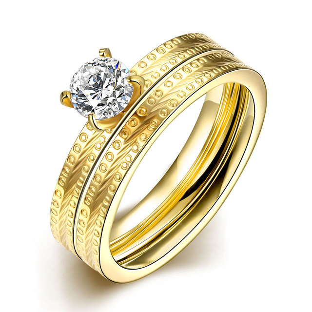 Ann U0026 Snow New Sale Fashion Silver Gold Male Female Stainless Steel Ring  Vintage Wedding Rings