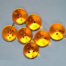 Anime Dragon Ball Z 7 Stars Balls 2.7cm PVC Figures Toys Keychain Pendant star Dragon Ball Z keyring Cartoon Collection toys