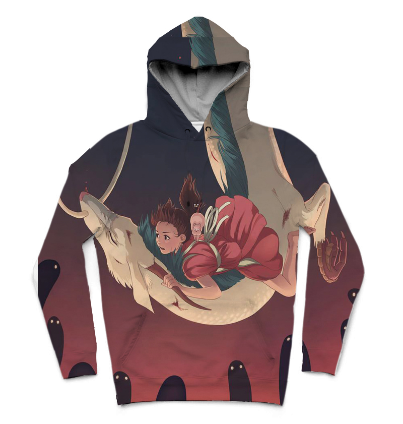 REAL American SIZE Ghibli Piece high quality 3D Sublimation Printing Hoody  Hoodie Plus size 5xl 6xl