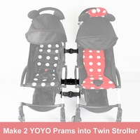 Generic Connector Joint Linker Coupler Accessories Make 2 Prams into 1 Twin Groove Stroller For Babyzen