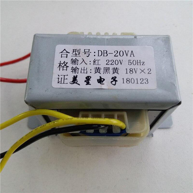 transformador duplo do amplificador 220vac da entrada 20va ei57 do transformador de 9 v 12 v