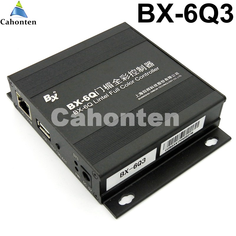BX-6Q3 USB and Ethernet Port lintel full color led control card asynchronous video led sign controller 384*1024,512*768pixels