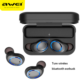 Awei T3 TWS 5.0 Bluetooth Sport Earphone 3D Stereo True Wireless Earphones Earbuds Dual Microphone Headset With Charging Case Lexus RX