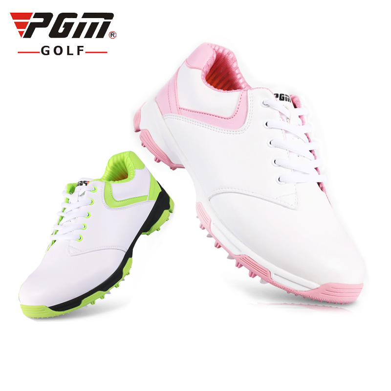 ladies Golf shoes women men sports shoe  anti-skid spike nail breathable tank inside   waterproof ultra-white pink, white green adidas men s puremotion golf shoe