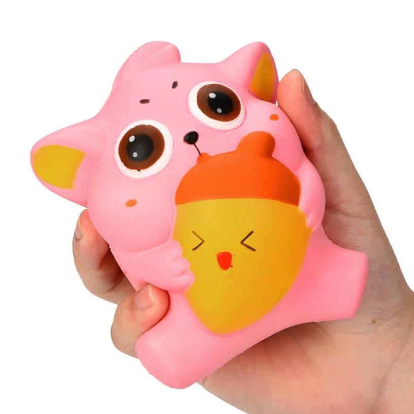 Funny Novelty toy 10CM Cute Kitty Cream Scented Squishy Slow Rising Squeeze Strap Kids Gifts Adults relieve stress toys