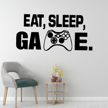 Modern Eat Sleep Game Vinyl Kitchen Wall Stickers Wallpaper For Boys Bedroom Decals Art