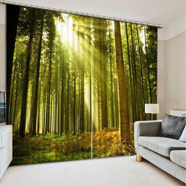 Spring scenery Curtain window room 3D Window Curtains For Bedding room Home  Decoration