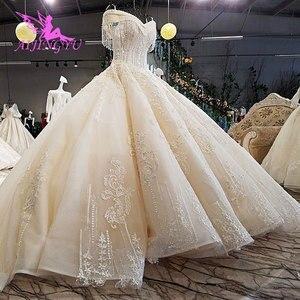 Image 4 - AIJINGYU חתונה שמלת תחרה שמלות בציר פקיסטני פינלנד כדור יוקרה 2021 2020 אמיתי קתדרלת שמלת כלה פקיסטנית שמלות