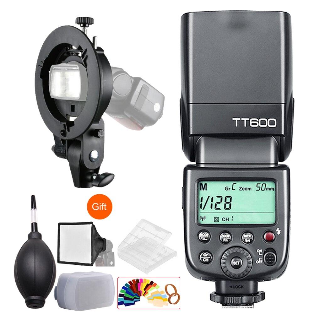 цена на Godox TT600 2.4G Wireless Master/Slave 1/8000s Camera Flash + Bowens S-Type Bracket for Canon Nikon Sony Pentax Olympus Fujifilm