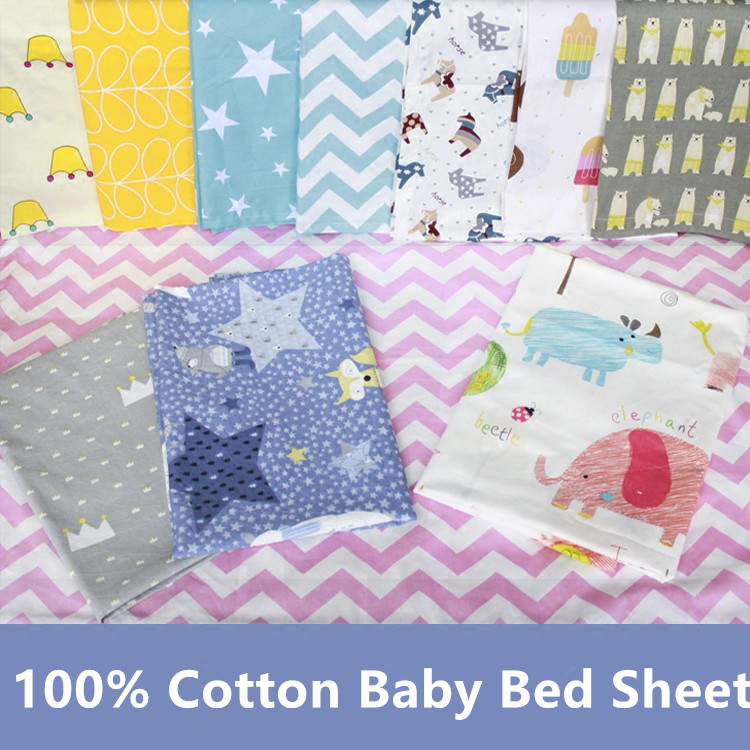 Cotton Active Printed Baby Crib Bed Sheet Newborn Bedding Sets Flat Sheet for Newborn Babies Mattress Sheet Apply to 1-8Years