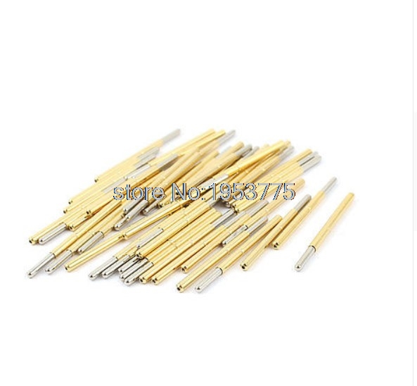 50 Pieces P125-J 1.7mm Spherical Tip Spring PCB Testing Contact Probes Pin
