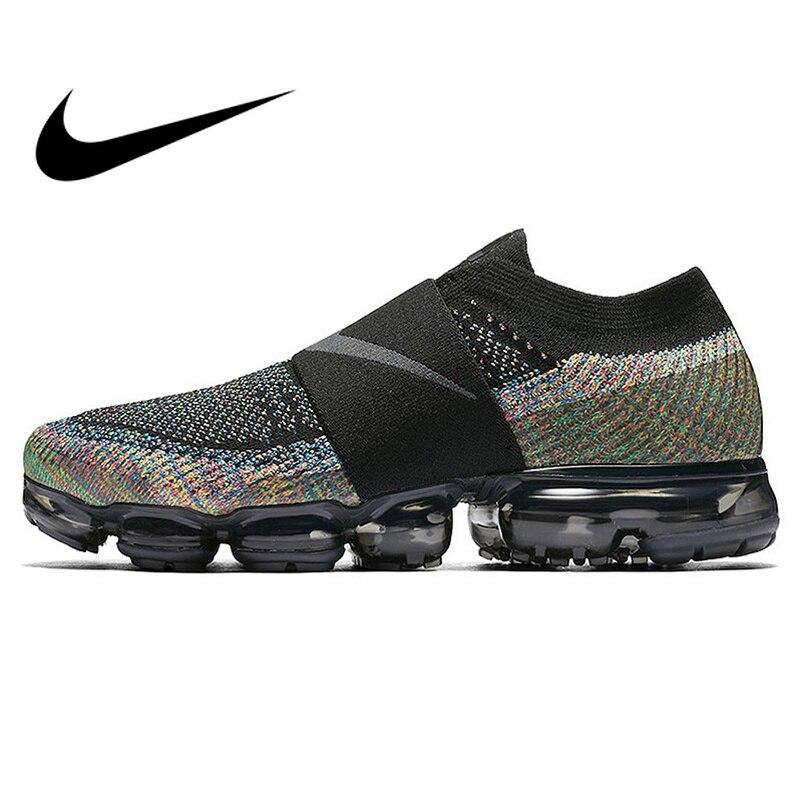 Original authentique Nike Air VaporMax Moc arc-en-ciel coussin hommes chaussures de course sport baskets extérieur respirant durable AH3397