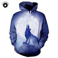 สัตว์หมาป่าHoodiesผู้ชาย/ผู้หญิง3dพิมพ์เสื้อฤดูใบไม้ร่วงฤดูหนาวHoody Unisexคลุมด้วยผ้าT Racksuitsท็อปส์พลัส...