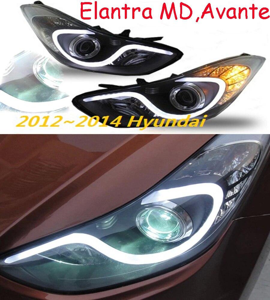 HID, 2012 ~ 2015, style de voiture, phare Elantra, Solaris, accent, Elantra, Genesis, i10, i20, santa fe, lantra; phare Elantra