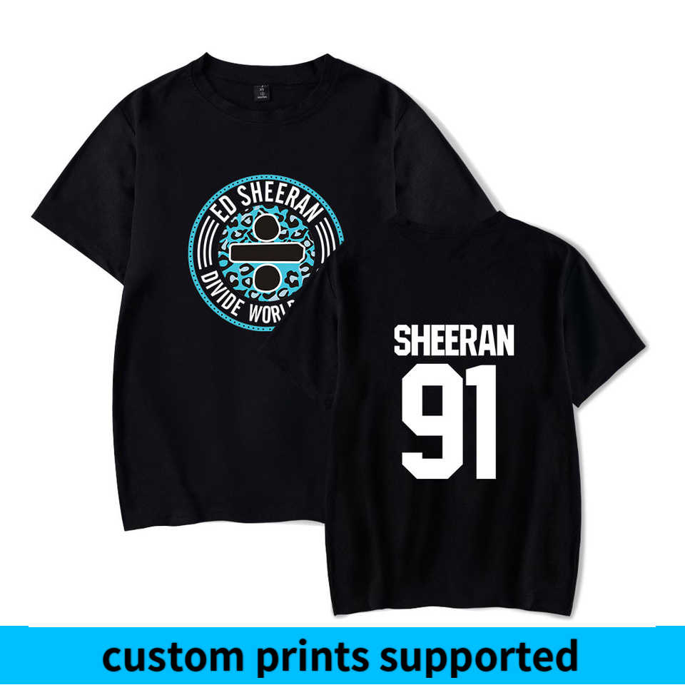 Ed Sheeran Hip Hop Summer t shirt Women/Men Short Sleeve Fashion Hot Sale Tshirts 2018 Casual Streetwear Trendy Wear Custom