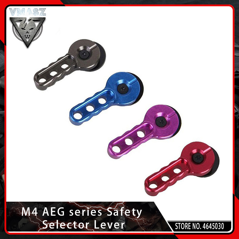 VMASZ Enhanced Safety Aluminium CNC Machined Selector Switch Lever Set For Airsoft M4 AEG Hunting Paintball Accessories