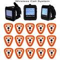 Wireless Sistema de Llamada de Buscapersonas para el Restaurante Coaster Botón Reloj de Huéspedes Hospital Enfermera 433 MHz Equipo de Restaurante Camarero F3306Q