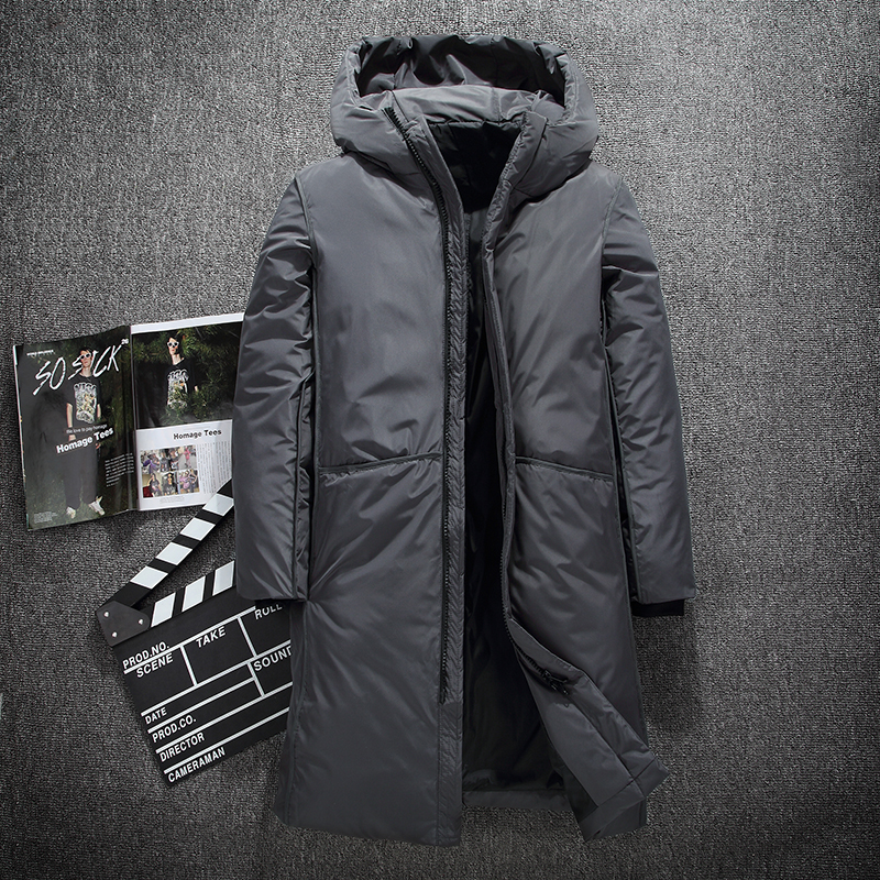 Warm Thick winter down jacket men brand clothing Top quality X-Long Male White duck down coat M-3XL(China)