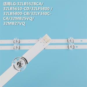"""Image 2 - 3pcs x TV LED Strips 6 lamps for LG 32""""TV 32MB25VQ 6916l 1974A 1975A 1981A lv320DUE 32LF5800 32LB5610 innotek drt 3.0 32"""