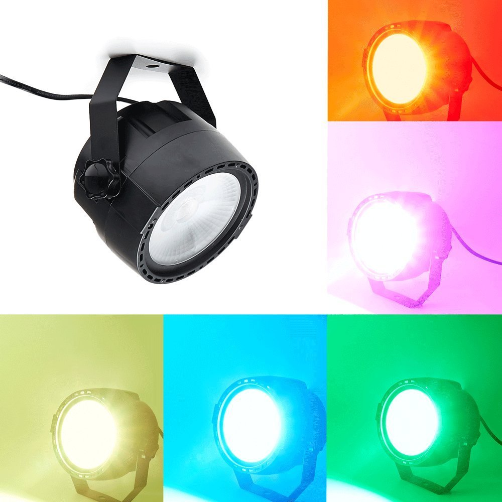 Par Lights With 30W RGB Tricolor COB LEDs By RF Remote And DMX Control For Stage Lighting Home Party KTV Club
