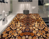 Beibehang High End Personality Pvc Wallpaper Fashion Tree Section Year Round Wooden Bedroom Bathroom Floor 3d