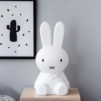 Rabbit Night Light Led Lamp Dimmable for Baby Children Kids Gift Animal Cartoon Decorative Bedside Bedroom Living Room 30CM/50CM