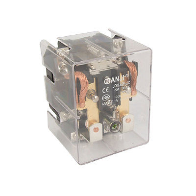 DC 12V Coil 80A 28VDC 250V AC High Power Relay DPDT JQX-62F 2C  Free Shipping