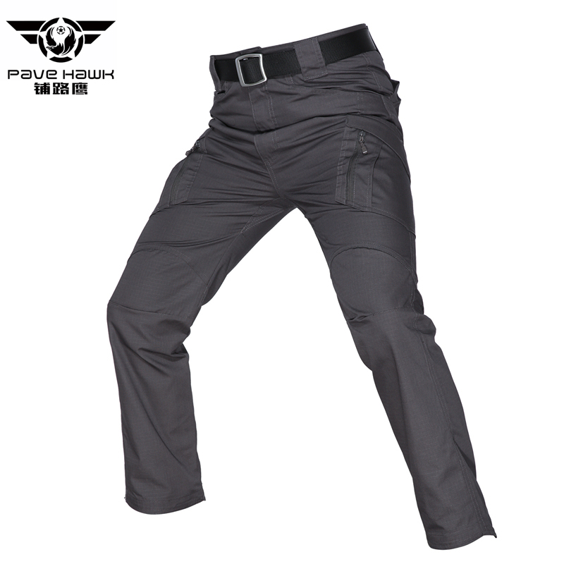 Casual Trousers Cargo-Pants Stretch Tactical Multi-Pockets Combat Cotton Waist Men 5xl