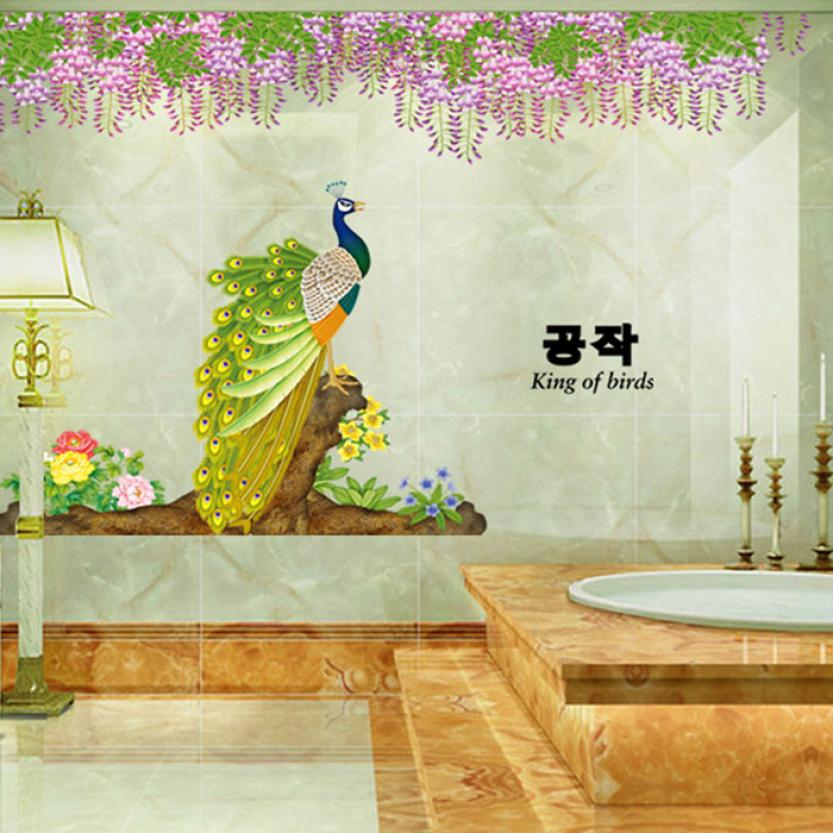 2017 beauty phoenix decals living room bedroom removable pvc wall stickers mural new for sitting rooms wall decal home decor - Home Decor Phoenix