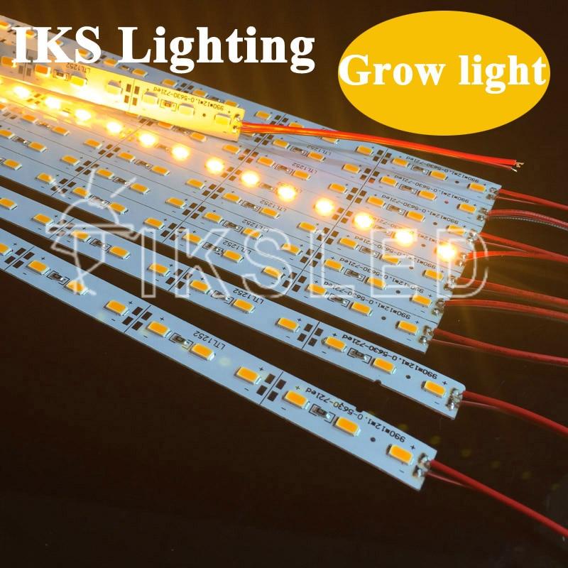 5pcs*50cm SMD 5730 Grow Light Yellow Color Led Strip Grow Light 5730 Full Spectrum LED Grow Lights Lamp For Flower Plant
