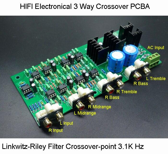 ハイファイ電子化3ウェイクロスオーバーpcba classa電源linkwitz ライリーフィルター6チャンネルクロスオーバーのポイント310 hz/3.1 k 60hz送料無料  グループ上の 家電製品 からの スピーカーアクセサリー の中 1