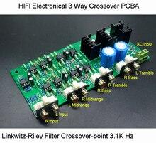HIFI Classea PCBA Elettronico 3 Vie Crossover filtro di Potenza Linkwitz Riley Channel punto di Crossover 310 HZ/3.1 K Hz Spedizione Gratuita