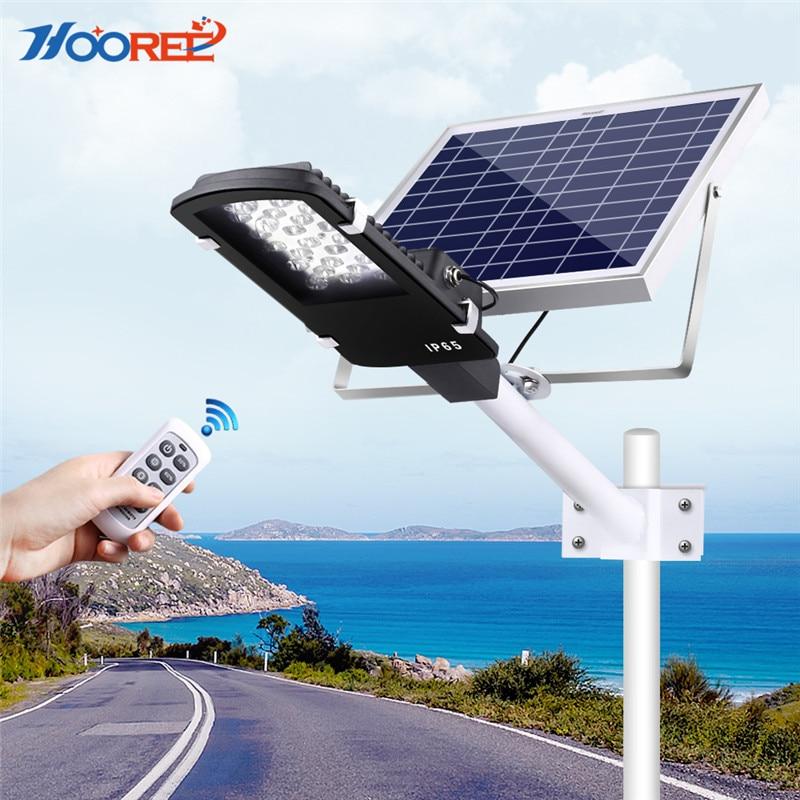 HOOREE Solare Luce di Via Solare Lampade Da Giardino Cortile Esterno Impermeabile IP65 Radar Sensore di Controllo della Luce Solare Ha Condotto La Luce