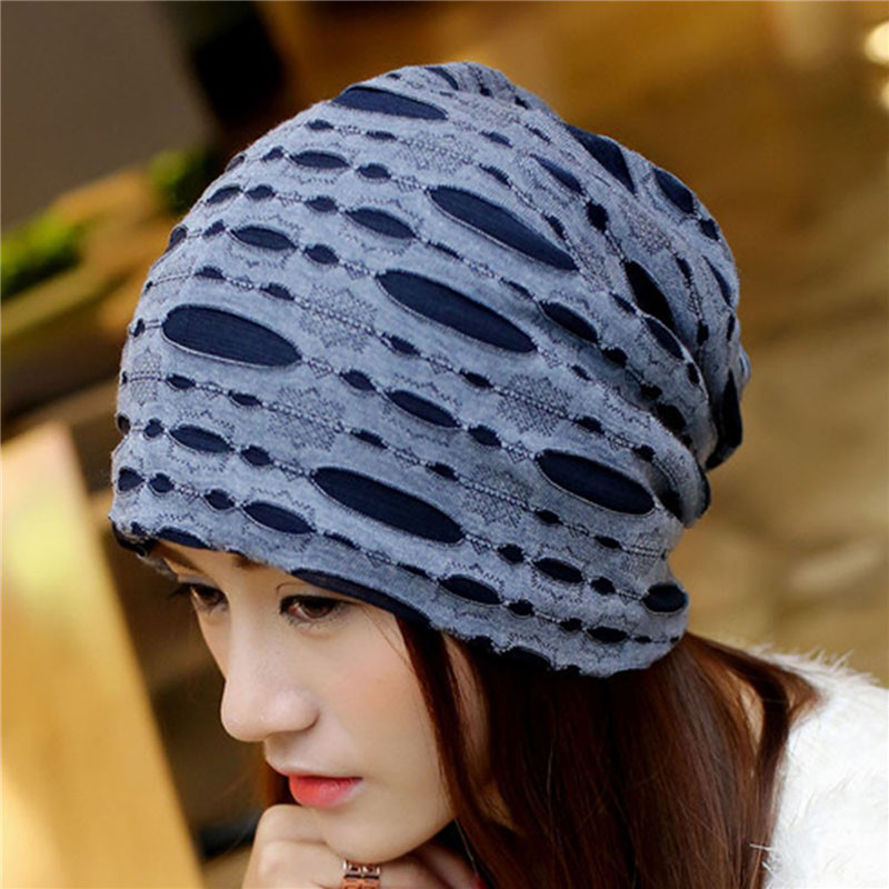 2016 Female Beanie Bonnet Autumn And Winter Caps Hip-hop Cap Hats For Women Beanies Balaclava Men Beggars Hole Cap female autumn and winter hats worn bonnet thick warm cap knitted caps women beanie cap