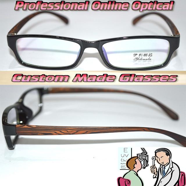 Optical Custom made optical lenses full rim TR90 Wood leg Bright ...