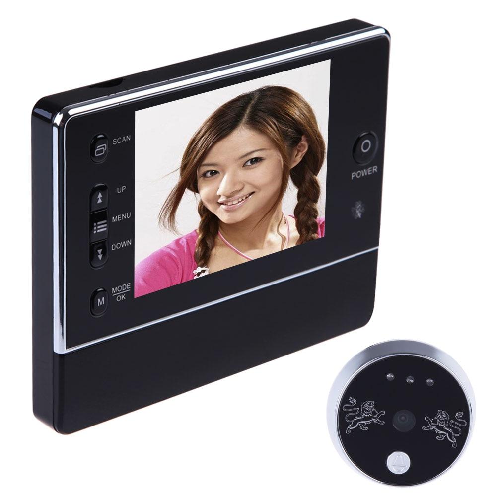 "3.5"" LCD Digital Magic Eye Wireless Door Peephole Camera 120 Degree Doorbell Interfone Viewer DVR Night Vision 3 X ZOOM-in Door Viewers from Home Improvement    1"