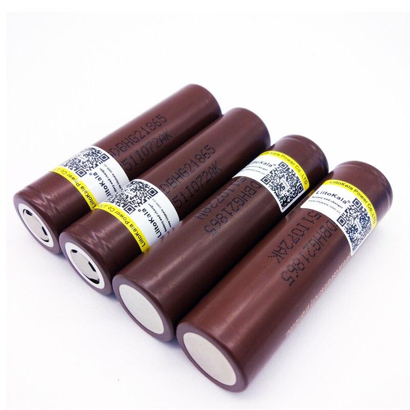Baterias Recarregáveis 6 pcs liitokala original para Modelo Número : LG HG2