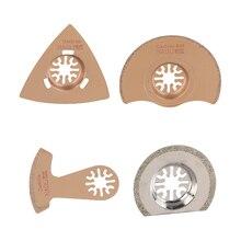 4 pcs/set Diamond & Carbide Oscillating Tool Saw Blades power tools as Fein, Dremel etc
