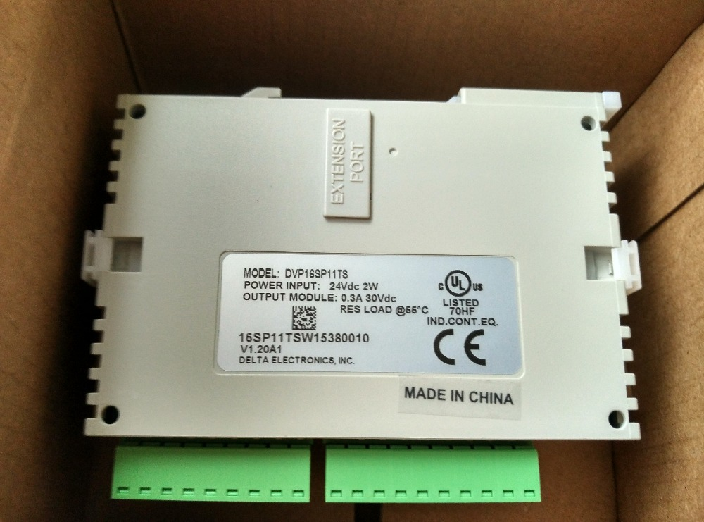 DVP16SP11TS Delta S Series PLC Digital Module DI 8 DO 8 Transistor(PNP) new in box s plc 6es7214 1ad23 0xb0 new in box