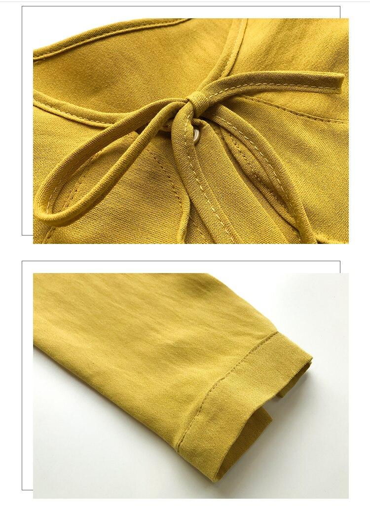 Kimono Cardigan Cotton Linen Peter Pan Collar Womens Tops and Blouses Tie Bow Shirt Loose Oversized Casual Ruffles Blouse Women 15