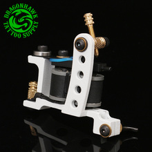 Professional Tattoo Machine 10 Wrap Coils Tattoo Liner And Shader White Gun Handmade Machine Free Shipping