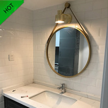 Iron Wall Hanging Personality Round Mirror Creative Bathroom Mirror Simple Fashion Bathroom Decoration Vanity Mirror ZSP12291(China)