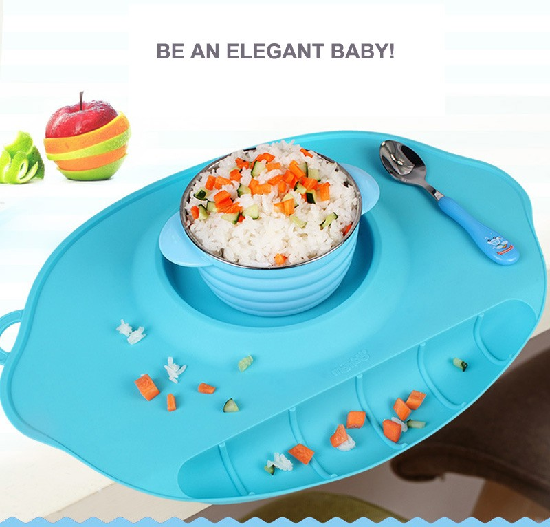 changing table topper 2016 Non-Slip Tray Baby Table Topper Mat Waterproof Silicone Pad Infant Dinner Portable Placemat - Baby Feeding Baby Place Mat 01