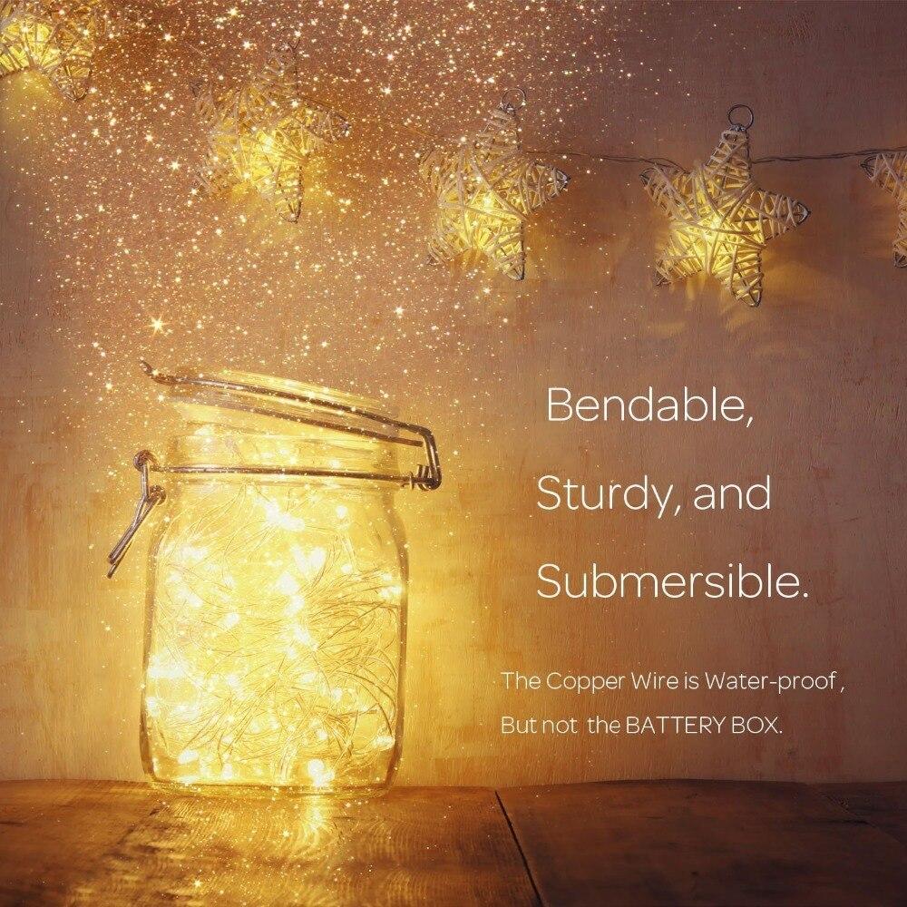 Atemberaubend Glühwürmchen Leuchtet Kupferdraht Lichter Fotos ...