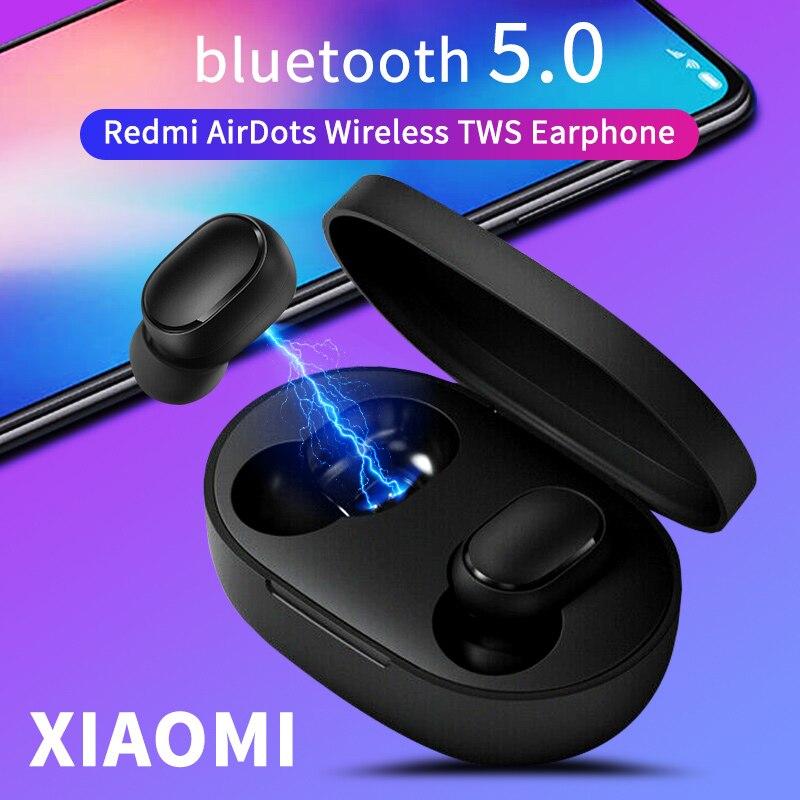 Airdots TWS sans fil bluetooth écouteur pour Xiaomi Redmi Version jeunesse stéréo basse BT 5.0 avec micro mains libres écouteurs