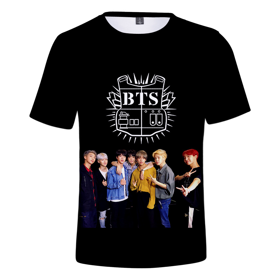Korea Singer BTS Print 3D T shirt Men Women Hip Hop Streetwear Tshirt 2018 Summer Boys Kawaii White T shirt ShirtsTops Clothes in T Shirts from Men 39 s Clothing