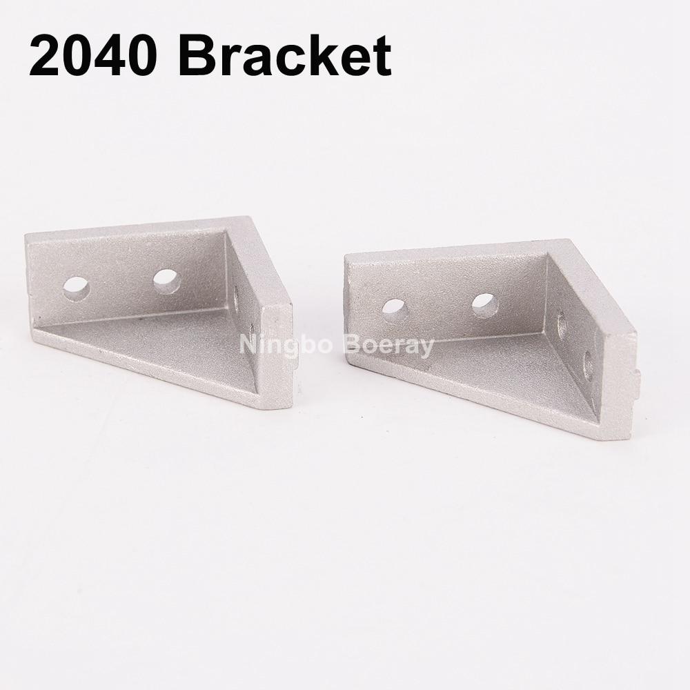50pcs Corner Fitting Angle 20x20 20X40 2040 Decorative Brackets Aluminum Profile Accessories L Connector Fasten connector щебень фракция 20 40 мм 50 кг
